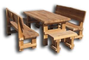 Dubový záhradný nábytok