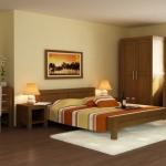 Manželská posteľ - gaštan