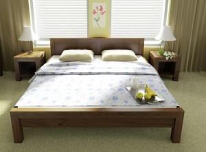 Manželská posteľ orech